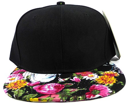 Wholesale Blank Floral Snapbacks Hats - Multicolored Flowers 2