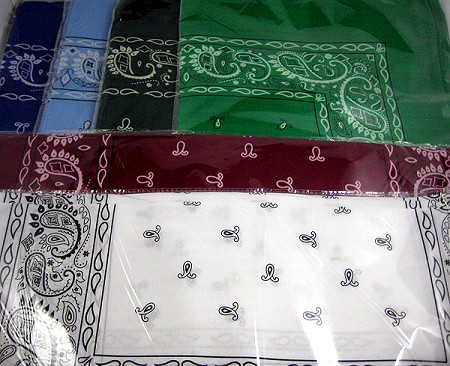 Classic Paisley Pattern Bandanas Wholesale (Dozen Packed) - Single-Sided - ALL COLORS
