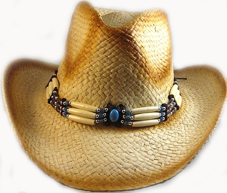 Western Cowboy Hat Wholesale - 100% Straw & Beads 2