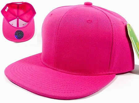 Blank Snapback Hats Caps Wholesale - Solid Hot Pink
