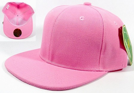 Blank Snapback Hats Caps Wholesale - Solid Light Pink