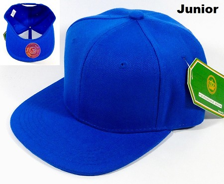 KIDS Blank Kids Jr. Snapbacks Hat Wholesale - Royal Blue
