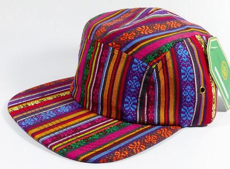 wholesale blank 5 panel aztec camp hats caps vertical multicolor