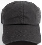 Washed 100% Cotton Blank Baseball Cap - New Strapback / Buckle - Charcol