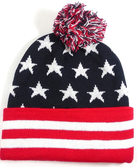 Beanies Wholesale | Pom Pom Beanies Trendy Winter Hats - American Stars