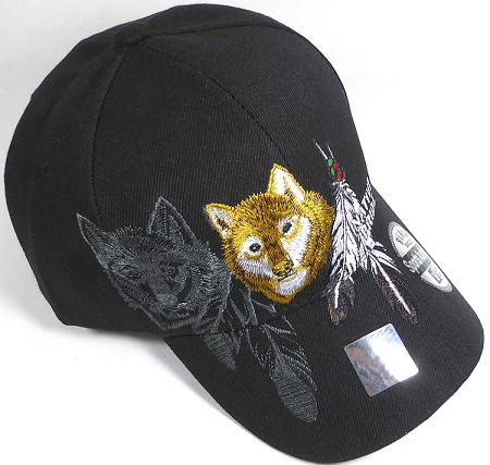 Wholesale Native Pride Baseball Cap - Coyote - Black