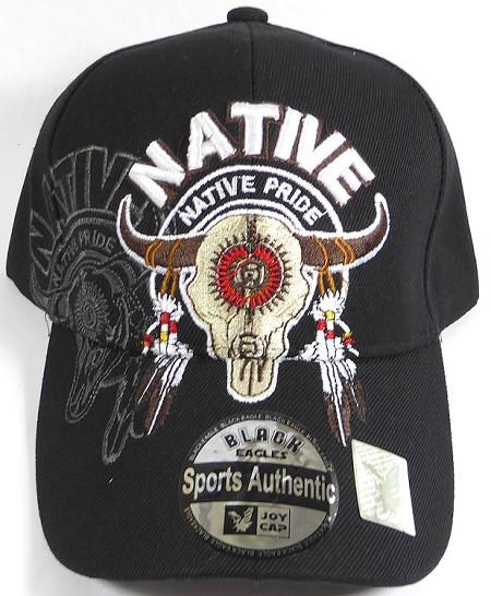 734d207916d46 thumbnail.asp file assets images 2016 April 29th Native Pride AceCap Cowboy  Native Pride wholesale native pride baseball cap big buffalo skull black  01.jpg  ...