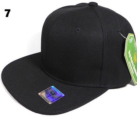 Fitted Size Caps - Wholesale Plain Hat - 7 - Black