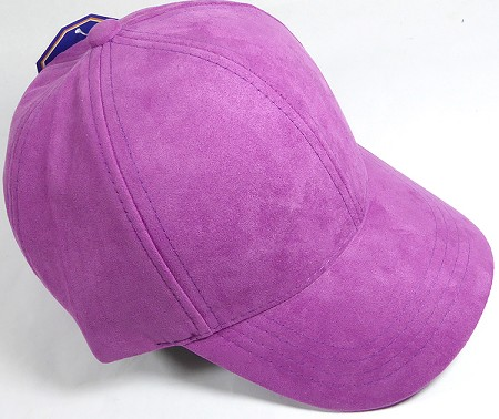 Suede Dad Hats Wholesale Blank Baseball Caps - Slider Buckle - Purple