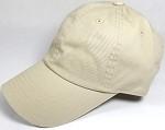 Washed 100% Cotton Blank Baseball Caps - New Strapback / Buckle - Beige