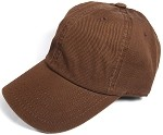 Washed 100% Cotton Blank Baseball Caps - New Strapback / Buckle - Brown
