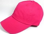 Washed 100% Cotton Blank Baseball Caps - New Strapback / Buckle - Hot Pink