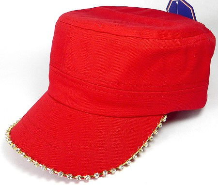Bling Blank - Cadet Caps Wholesale - Red