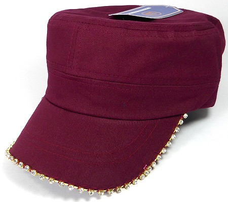 Bling Blank - Cadet Caps Wholesale - Burgundy