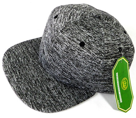 Wholesale Blank Snapback Hats - Charcoal Heather - Solid