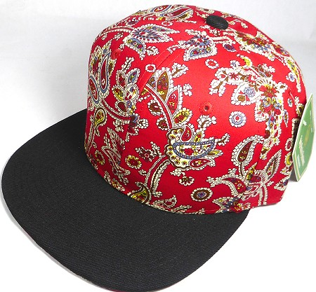 0eb0924855d thumbnail.asp file assets images 2017 Floral and Paisley wholesale paisley  red floral snapback cap black brim 02.jpg maxx 450 maxy 0