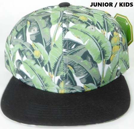 KIDS Jr. Banana Snapback Caps Wholesale - Black Brim