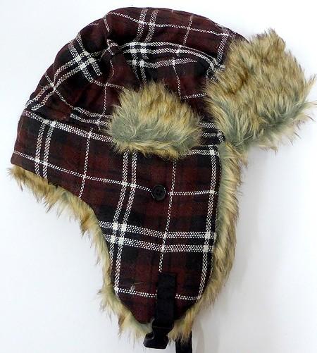 Wholesale Winter Hats Beanie Trooper Hats Faux Fur Plaid Hat Bulk Cheap 52d15748a61