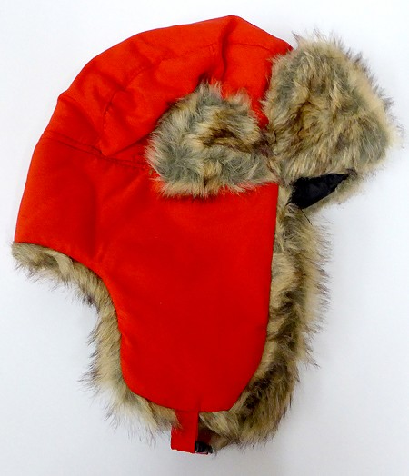 Trooper Bomber Faux Fur Winter Hats Wholesale - Solid ColorRed