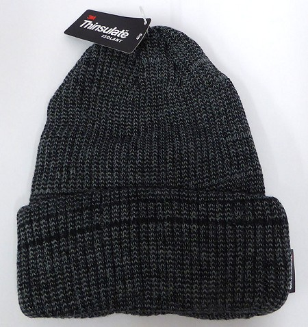 Wholesale Winter Knit 3M License Long Cuff Beanie Hats - Mixed D.Grey