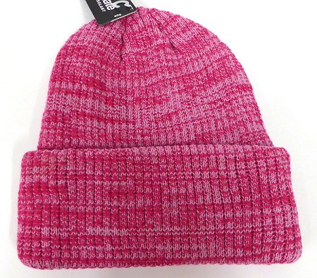 Wholesale Winter Knit 3M License Long Cuff Beanie Hats - Mixed Hot Pink