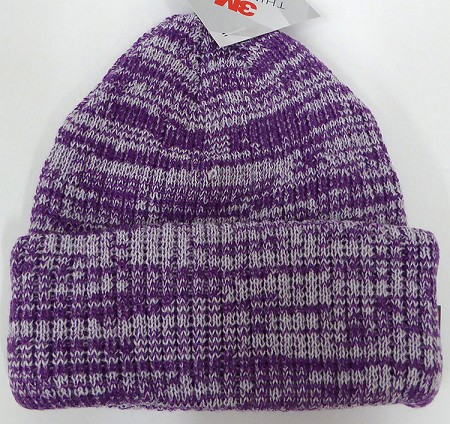 Wholesale Winter Knit 3M License Long Cuff Beanie Hats - Mixed Purple