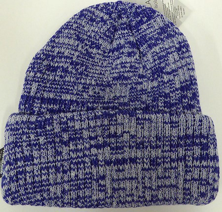 Wholesale Winter Knit 3M License Long Cuff Beanie Hats - Mixed Royal Blue