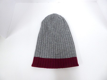 Wholesale Beanies Wholesale | Sideline Knit  Long Cuff Beanie Hats 2-tone - Ash Grey Burgandy