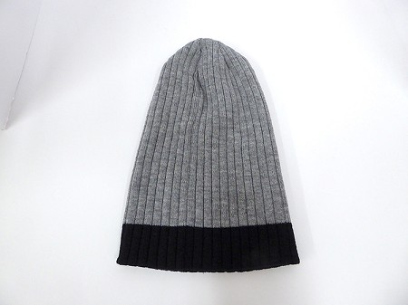 Wholesale Beanies Wholesale | Sideline Knit  Long Cuff Beanie Hats 2-tone -Ash Grey Black