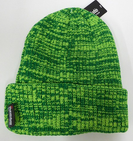 Wholesale Winter Knit 3M License Long Cuff Beanie Hats - Mixed L. Green