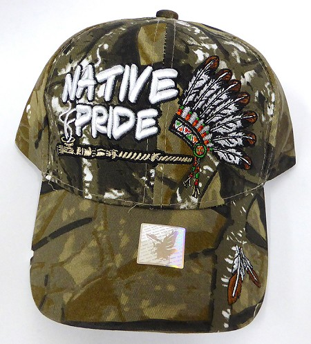 Wholesale Native Pride Baseball Cap - Chief Pipe - Autumn Camo