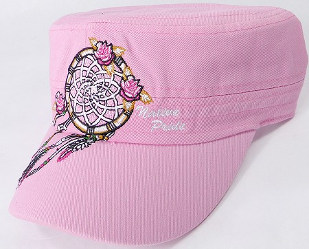 Wholesale Native Pride Cadet Cap - Floral Dreamcatcher - Light Pink