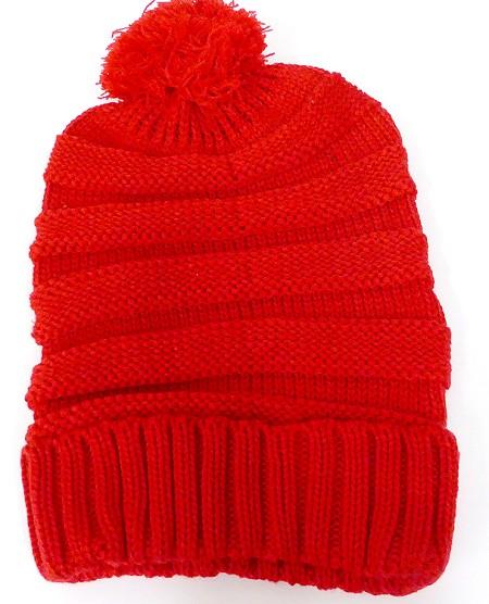 Wholesale Pom Pom Winter Beanie Hats Bulk Crown Hat f0964f8583c