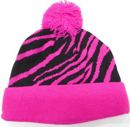 5a6bda18 Wholesale Pom Pom Beanie Hats Winter Cap Bulk ZEBRA