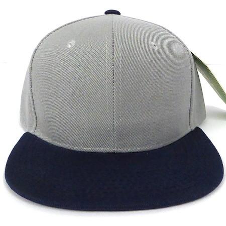 890847a7deaf7 Wholesale Plain Snapback Hats - Grey Navy Flat Bill Snap Back Caps in Trend  for Bulk