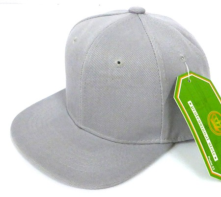 INFANT Baby Blank Snapback Hats & Caps Wholesale - Solid  L. Grey
