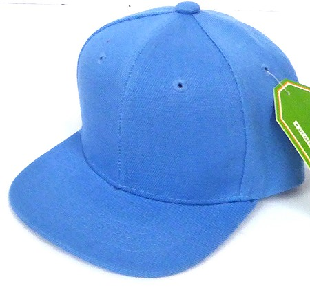 INFANT Baby Blank Snapback Hats & Caps Wholesale - Solid  Sky Blue