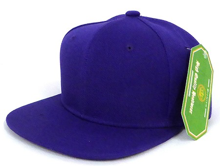 INFANT Baby Blank Snapback Hats & Caps Wholesale - Solid Purple