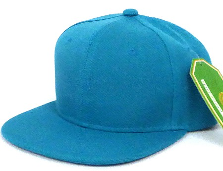 INFANT Baby Blank Snapback Hats & Caps Wholesale - Solid Turquoise Blue