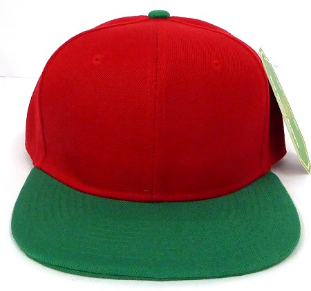 Blank Snapback Hats Caps Wholesale - Red  Kelly Green