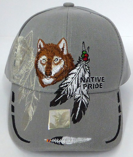 Wholesale Native Pride Baseball Cap - Coyote -Grey
