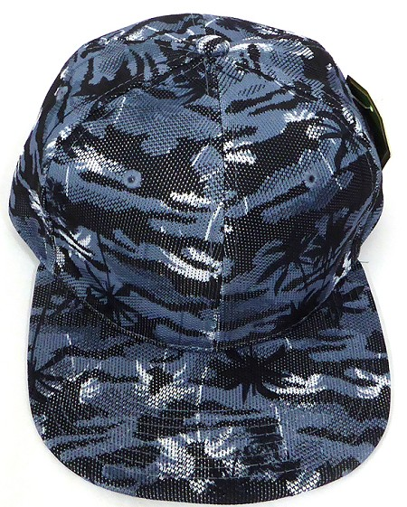 Wholesale Coconut Tree Floral Blank Snapback Hat - Solid Grey