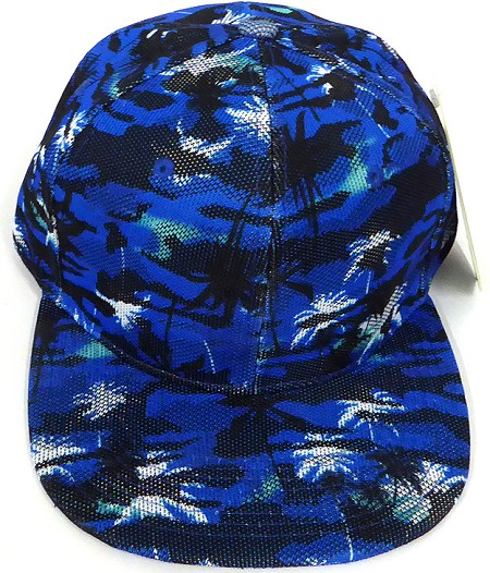 Wholesale Coconut Tree Floral Blank Snapback Hat - Solid Royal Blue