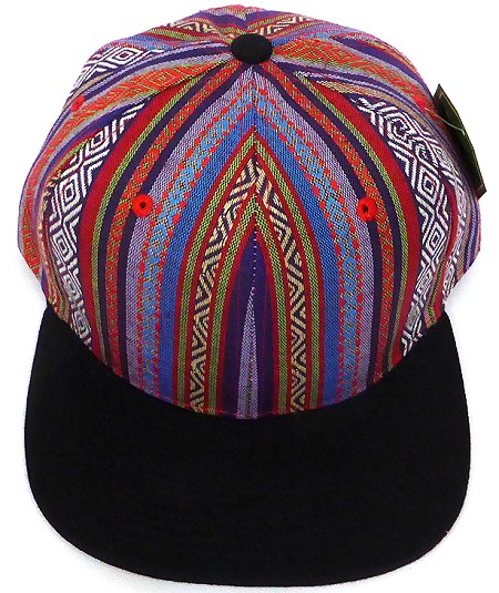 Aztec Snapback Hats Wholesale - Native American Theme Cap -3