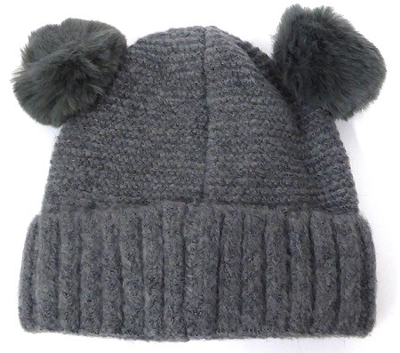 Infant/Baby Ears Beanie k-88 - Charcoal grey