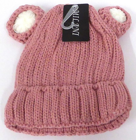 Infant/Baby Ears Beanie k-90 - Pink