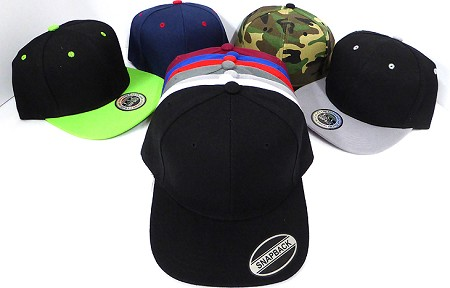 [Wholesale Price apply for Dozen Orders Only]  Blank Snapbacks - All colors