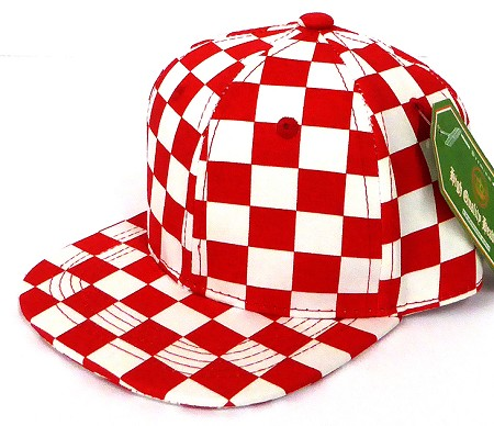 INFANT Snapback Hats Wholesale - RED Checkered Art Design
