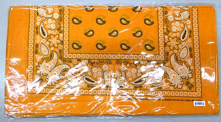 Paisley Bandana 100% Cotton Wholesale  (Dozen Packed) - Gold