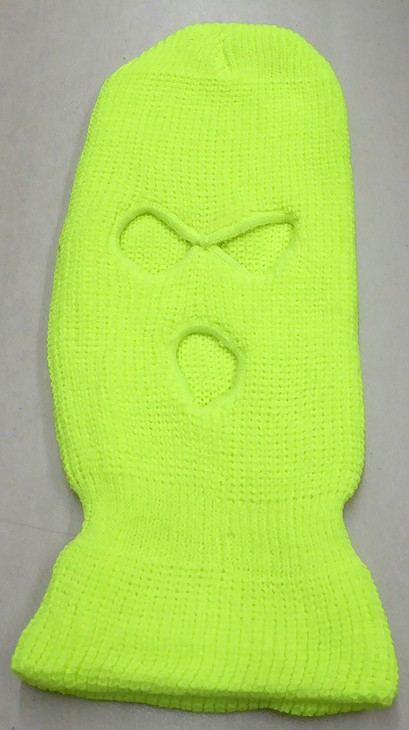 Wholesale Balaclava 3-Hole  Halloween Ski Masks (Full Face Masks)   Neon Yellow